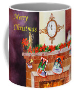 Christmas Card Coffee Mug by Irina Sztukowski