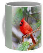 Christmas Cardinal - Male Coffee Mug