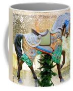 Christmas Carousel Warrior Horse-1 Coffee Mug