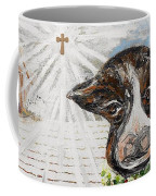 Christmas Cow - Oh To Have Been There... Coffee Mug by Eloise Schneider