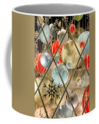 Christmas Decorations In Window Coffee Mug
