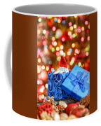 Christmas Dog In Box Coffee Mug
