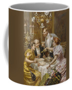 Christmas Eve Dinner In The Private Dining Room Of A Great Restaurant Coffee Mug by Ludovico Marchetti