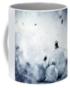 Christmas Glass Balls On Winter Vintage Background Coffee Mug