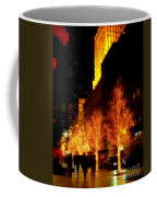 Christmas In New York - Trees And Star Coffee Mug