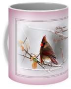 Christmas In Pink - Cardinal Christmas Coffee Mug