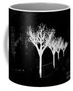 Christmas Lights In Black And White Coffee Mug