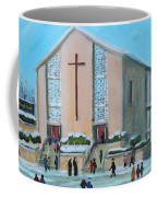 Christmas Mass At Saint Joseph's Church Coffee Mug