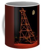Christmas Moon Over Butte Headframe Coffee Mug