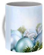 Christmas Ornaments On Blue Coffee Mug