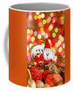 Christmas Penguin And Puppy Coffee Mug
