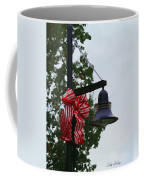 Christmas Post And Bow Coffee Mug