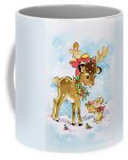 Christmas Reindeer And Rabbit Coffee Mug