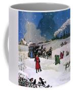 Christmas Scene Coffee Mug by English School