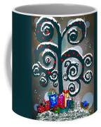 Christmas Tree Swirls And Curls Coffee Mug