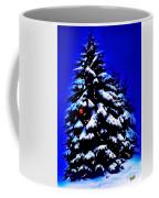 Christmas Tree With Red Ball Coffee Mug