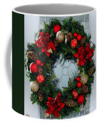 Christmas Wreath Greeting Card Coffee Mug