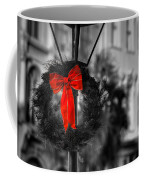 Christmas Wreath In Charleston Coffee Mug