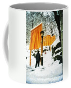 Christo - The Gates - Project For Central Park In Snow Coffee Mug
