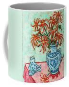 Chrysanthemum And Frog Coffee Mug