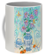 Chrysanthemum Study With Chinese Symbols  Coffee Mug