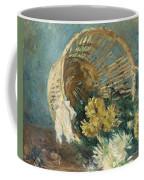 Chrysanthemums Or The Overturned Basket Coffee Mug