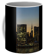 Chrysler And Un Buildings Sunset Coffee Mug