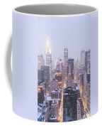 Chrysler Building And Skyscrapers Covered In Snow - New York City Coffee Mug