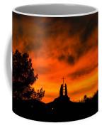 Church Cross Lit By Tucson Sunset Coffee Mug
