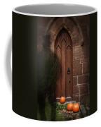 Church Door At Halloween Coffee Mug