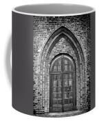 Church Door Monochromatic Coffee Mug by Antony McAulay