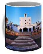 Church In Sant Josep Town On Ibiza Island Coffee Mug