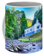 Church In The Mountains By The River Coffee Mug