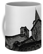 Church Of The Assumption Of Mary In Bossost - Abse And Tower Bw Coffee Mug