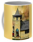 Church Painted Effect Coffee Mug