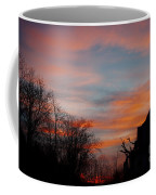 Church With Orange Sky Coffee Mug