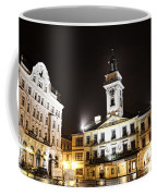 Cieszyn Town Center At Night Coffee Mug