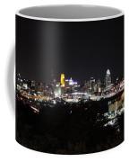 Cincinnati Skyline At Night From Devou Park Coffee Mug
