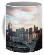 Cincinnati Skyline At Sunset Form The Top Of Mount Adams 2 Coffee Mug