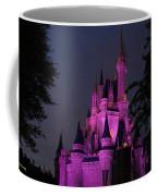 Cinderella Castle Illuminated In Pink Glow Coffee Mug