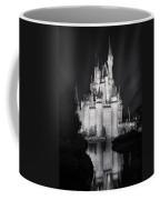 Cinderella's Castle Reflection Black And White Coffee Mug
