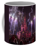 Cinderella's Castle With Fireworks Coffee Mug by Adam Romanowicz