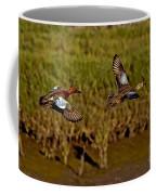 Cinnamon Teal Pair In Flight Coffee Mug