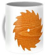 Circular Saw Blade With Pine Wood Texture Coffee Mug by Stephan Pietzko