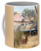 circus circus 2 - A vintage circus wagon with african paint and llama camel  Coffee Mug
