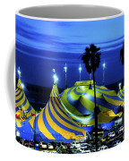 Circus Tent Swirls Of Blue Yellow Original Fine Art Photography Print  Coffee Mug
