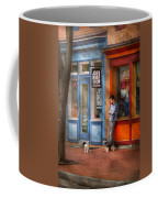 City - Baltimore Md - Waiting By Joe's Bike Shop  Coffee Mug by Mike Savad