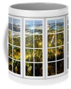 City Lights White Window Frame View Coffee Mug