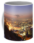 City Lit Up At Night, Esslingen Coffee Mug