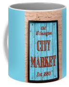 City Market Sign Coffee Mug